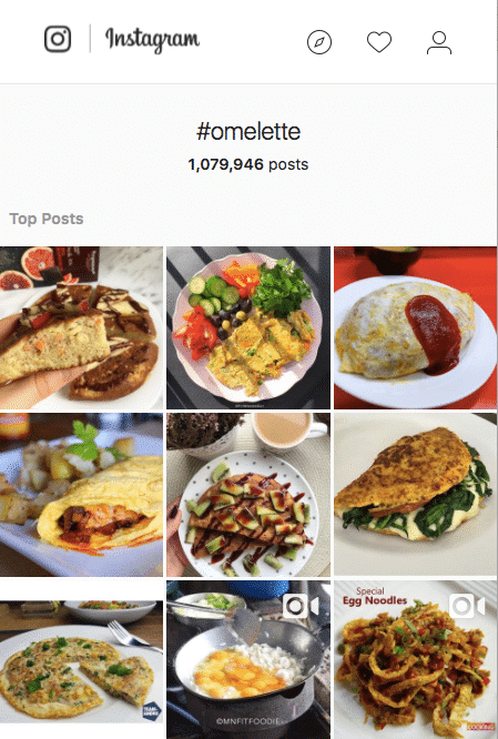 Omelette Instagram Feed