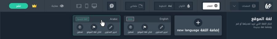 اختيار اللغة إحدى أهم خطوات تصميم موقع الكتروني متكامل